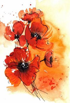 red poppy tattoo | Pin Red Poppy Watercolor Tattoo on Pinterest
