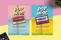 Pop Music Flyer by tokosatsu on Envato Elements , Big Music, Good Music, Music Flyer, Flyer Design, Web Design, Mosaic Art, Music Bands, Flyer Template, Pattern Design