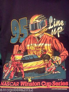 Authentic 1995 Nascar Winston Cup Series Mens T Shirt.Bids still at $1,only 17 hours to go.Free priority shipping.