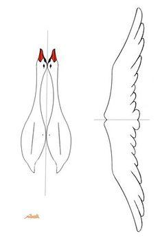 "Картинки по запросу ""flying geese coloring page""- Bird Paper Craft, Paper Birds, Bird Crafts, Paper Art, Paper Crafting, Pvc Pipe Crafts, Pvc Pipe Projects, Diy For Kids, Crafts For Kids"