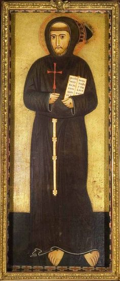 San Francesco d' Assisi a Ripa, Rome.  This is the 13 century copy of the actual portrait by Margaritone d'Arezzo, made in the saint's lifetime.  The original is in the Vatican Museum.