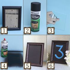DIY chalkboard in a frame - so much easier than the metal trays!