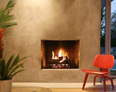 Modern Stucco Fireplace Design, Pictures, Remodel, Decor and Ideas - page 2