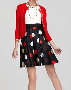 Kate Spade - love the high waisted skirt