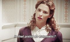 Is that pistol an automatic? I want that. || Dottie Underwood || AC 1x04 The Blitzkrieg Button || 245px x 150px || #animated #quotes