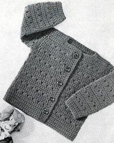 Girls Crocheted Cardigan Pattern