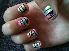 splatter paint nails :)