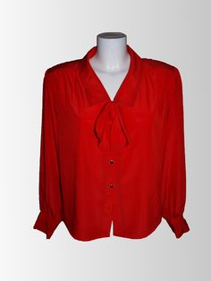 1980's Red Blouse from www.sixesandsevensvintage.com at £18.00
