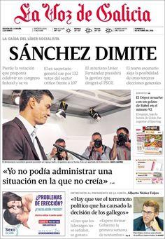 Portada de hoy del diario La Voz de Galicia - CoverTimes