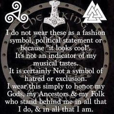 Hate when weird people appropriate our symbols and misuse them!! #Viking #heritage