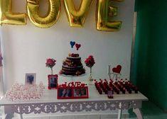 "2 curtidas, 1 comentários - Miriã Pessoa (@miria_pessoa) no Instagram: ""#decoracaonoivado"" Anniversary Decorations, Gender Reveal, Wedding Anniversary, Instagram, Ideas, Table Party, Natural Person, Fiestas, Couple"