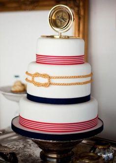 Cakes Nautical Wedding Cakes, Nautical Cake, Nautical Theme, Vintage Nautical, Nautical Colors, Gorgeous Cakes, Pretty Cakes, Amazing Cakes, Cupcakes