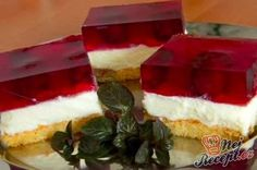 A refreshing cake that& perfect for the hot spring or summer days. Czech Recipes, Pudding, Sweet And Salty, Desert Recipes, No Bake Cake, Food To Make, Cake Recipes, Cheesecake, Food And Drink