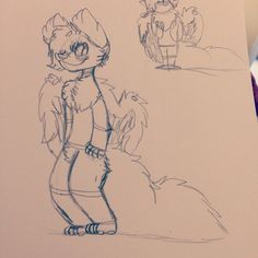 So I'm kinda redesigning Mysterystorm like just her fur/colors and her hair is kinda curly now