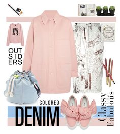 """""""Denim"""" by hbee-1234 ❤ liked on Polyvore featuring Joshua's, John Galliano, MM6 Maison Margiela, Meredith Wendell, Sisley, Bobbi Brown Cosmetics and alldenim"""