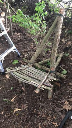 Bush craft chair #bushcraftdiyprojects #bushcraftdiyideas #ChairRecicle #bushcraftprojects