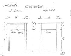 shaker style end table plans
