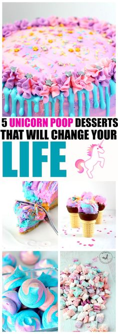 5 Unicorn Poop Dessert Recipes that will change your life and make your next party pretty!