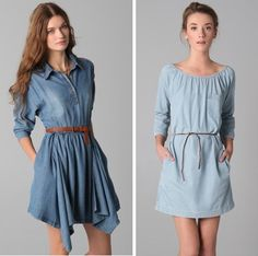 Today We Love: Blue / Plus 10 Denim Dresses for You!