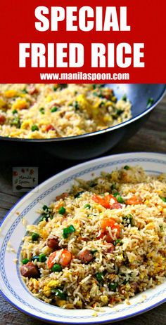 Easy and yummy way to make your favorite take-away Chinese Special Fried Rice.   manilaspoon.com