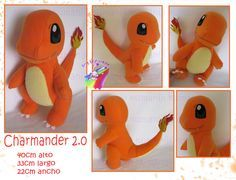 Charmander 2.0 plush hand made by chocoloverx3
