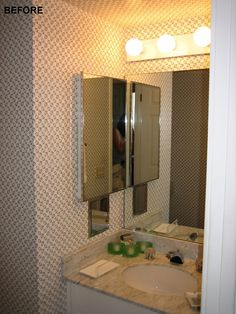 Interior Design, River Terrace Resort Orange Light As Glass Mirror Green Before Bathroom: River Terrace Resort With a Shade of Contemporary ...