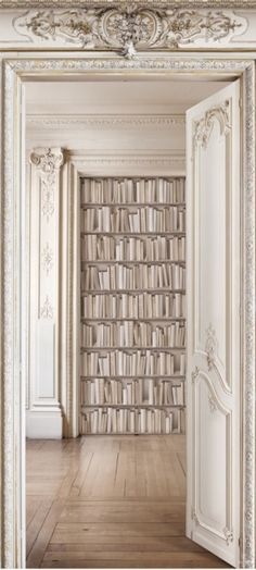 Haussmann library - Trompe l'oeil wallcovering .                                               Do You Ship To CANADA ? ? ? (please say yes, please say yes, please say yes).
