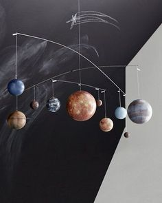 Solarsystem mobile via Designfirman Gamla Stan. Click on the image to see more!