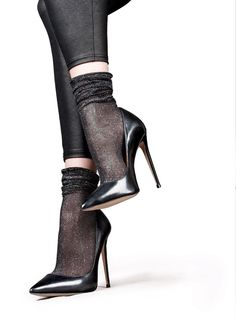 Thinking about if you should fit stockings to the majority of each of your look? Look no further, we've got professional helpful hints right away. Sheer Socks, Lace Socks, Socks And Heels, Ankle Socks, Pumps Heels, Stiletto Heels, Donia, Fashion Socks, Sexy High Heels