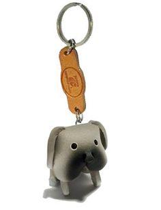 -----> Bulldog - THEPSIRI CRAFT Keyring 3D Leather Animals design : Inspired by LnwShop.com