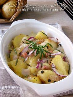 Ricetta Patate con pancetta e mozzarella, ripassate in forno
