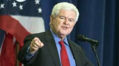 Former House Speaker Newt Gingrich speaks before introducing Republican presidential candidate Donald Trump.