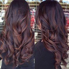 braune schöne haare - zwei bilder