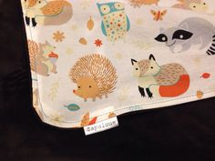 Owl baby blanket minky and cotton Woodland animals by Zapalous, $46.00