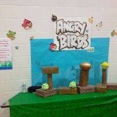 Angry birds game for school carnival Made by Ginny Rounds & moi