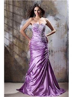 Mermaid One Shoulder Pleats Court Train Taline's Evening/Pageant Dress