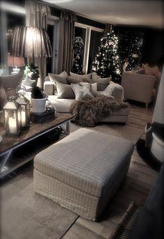 Mijn vergaarbak van leuke ideeën die ik wil toepassen in mijn huis. - kerstsfeer in een landelijk interieur