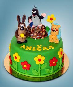 Krteček s kamarády Birthday Cake, Desserts, Food, Tailgate Desserts, Deserts, Birthday Cakes, Essen, Postres, Meals
