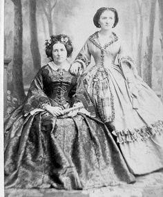1860s Mother and Daughter