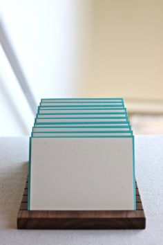 Modern Wood Display for Greeting Cards. by bellacornicello on Etsy