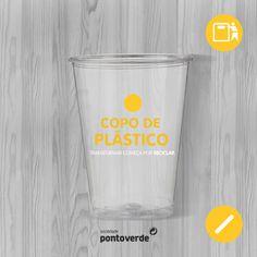 A nossa sede de reciclar não tem fim: por isso, sempre que não precisar mais de copos de plástico descartáveis, coloque-os no ecoponto amarelo.