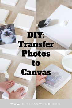 transfer photos to canvas with a few simple steps! - Real Time - Diet, Exercise, Fitness, Finance You for Healthy articles ideas Crafts To Make And Sell, Diy And Crafts, Paper Crafts, Diy Wall Art, Diy Wall Decor, Canvas Photo Transfer, Craft Projects, Projects To Try, Photo Projects