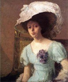 The Blue Gown - Julian Alden Weir - The Athenaeum