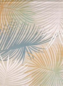 Delectably-Yours.com Palm Leaves Blue Tropical Coastal Beach Rug by United Weavers Regional Concepts