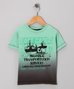 Take a look at this Green Burnout 'East Cargo' Tee - Boys by Mish Mish on #zulily today!