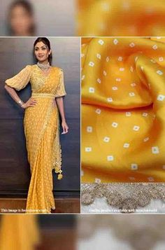 Details From our exclusive collection, we are offering you the Yellow Bandhani Print Satin silk...
