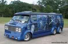 Customised Vans, Custom Vans, Station Wagon, Star Wars Vans, Especie Animal, Dodge Van, Old School Vans, Painted Vans, Vanz