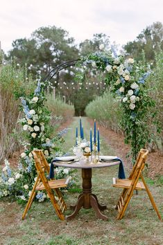 On location on a blueberry farm in New Orleans, we set an intimate seated dinner with lush wedding arch and brass candlesticks and tapers Blueberry Farm, Trellis Design, New Orleans Wedding, Antique Decor, Ceremony Decorations, Garden Styles, Garlands, Arches, Corporate Events