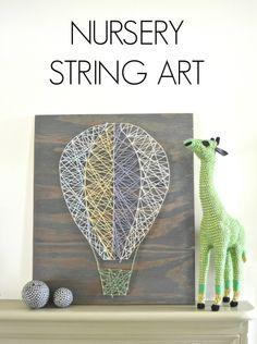 DIY Nursery String Art - Classy Clutter
