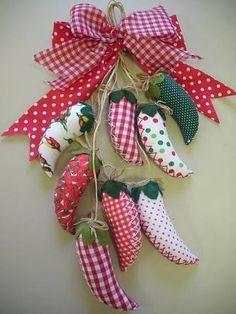 Resultado de imagen para pimentas decorativas de patchwork